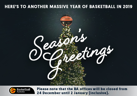 basketball australia would like to wish everyone a merry christmas and happy new year